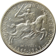 100 Francs - Charlotte (John the Blind) – reverse