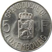 5 Francs - Charlotte -  reverse