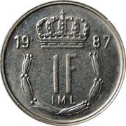 1 Franc - Jean -  reverse