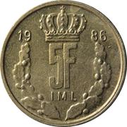 5 Francs - Jean -  reverse