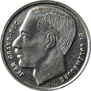 1 Franc - Jean -  obverse