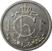 1 Franc - Charlotte (Essai) -  reverse