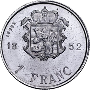 1 Franc - Guillaume III (Essai) -  reverse