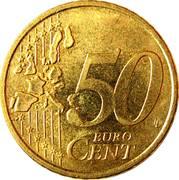 50 Euro Cent - Henri I (1st map) -  reverse