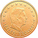 2 Euro Cent - Henri I – obverse