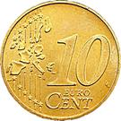 10 Euro Cent - Henri I (1st map) – reverse