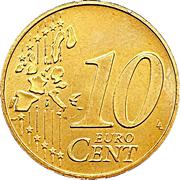 10 Euro Cent - Henri I (1st map) -  reverse