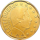 20 Euro Cent - Henri I (1st map) – obverse