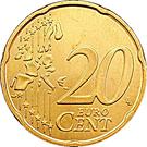 20 Euro Cent - Henri I (1st map) – reverse