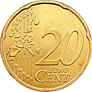 20 Euro Cent - Henri I (1st map) -  reverse