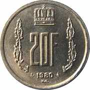 20 Francs - Jean -  reverse