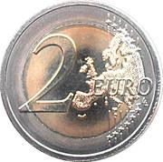 2 Euro - Henri I (10 Years of Euro Cash) -  reverse