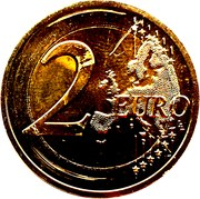2 Euro - Henri I (175 Years of the Nation) -  reverse