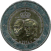 2 Euro - Henri I (Golden Jubilee) -  obverse