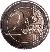 2 Euro - Henri (House of Nassau-Weilburg) -  reverse