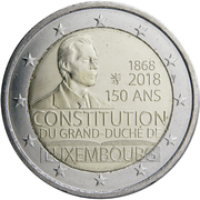 2 Euro - Henri I (Constitution of Luxembourg) -  obverse