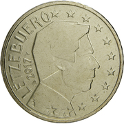 50 Euro Cent - Henri I (2nd map) -  obverse
