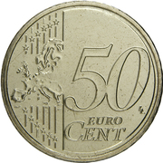 50 Euro Cent - Henri I (2nd map) -  reverse