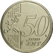 50 Euro Cent - Henri I (2nd map) -  reverse