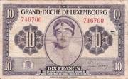 10 Francs/Frang Type 1944 – obverse