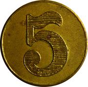 5 Francs - Patisserie Ernster-Schumacher (Echternach) – reverse