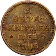 ½ Liter Bier - Café Kieffer-Leinenweber (Bous) – obverse