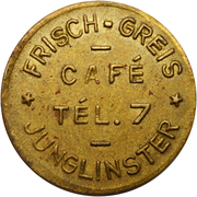 Token - Café Frisch-Greis (Junglinster) – obverse