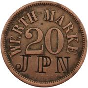 20 Centimes (Werth-Marke - Café Pünnel-Beck; Niederdonven) – obverse