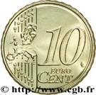 10 Euro Cent - Henri I (2nd map) – reverse