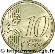 10 Euro Cent - Henri I (2nd map) -  reverse