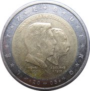 2 Euro - Henri I (Henri and Adolphe) -  obverse