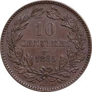 10 Centimes - Willem III -  reverse