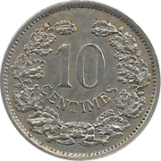 10 Centimes - Adolphe -  reverse