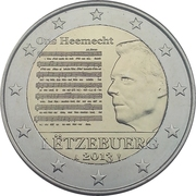 2 Euro - Henri I (National Anthem) -  obverse