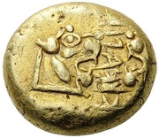 """Trite - Alyattes II (""""Branch"""" mint) – obverse"""