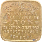 10 Centimes - Chambre Syndicale des Commissionnaires en Primeurs (Lyon) – obverse