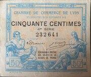 50 centimes - Chambre de Commerce de Lyon [69] – obverse