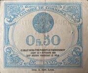 50 centimes - Chambre de Commerce de Lyon [69] – reverse