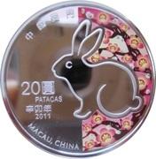 20 Patacas (Year of the Rabbit) – obverse