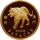 1000 Patacas (Year of the Tiger) – reverse