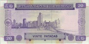 20 Patacas (Banco Nacional Ultramarino) – reverse