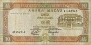 10 Patacas (Banco Nacional Ultramarino) – obverse