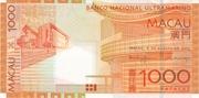 1000 Patacas (Banco Nacional Ultramarino) – obverse
