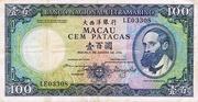 100 Patacas (Banco Nacional Ultramarino) – obverse