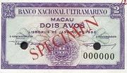 2 Avos (Banco Nacional Ultramarino) – obverse