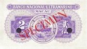 2 Avos (Banco Nacional Ultramarino) – reverse