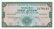 10 Avos (Banco Nacional Ultramarino) – obverse