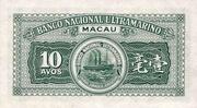10 Avos (Banco Nacional Ultramarino) – reverse