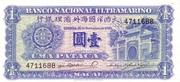 1 Pataca (Banco Nacional Ultramarino) – obverse