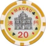 Casino Token - Macau (20) – obverse